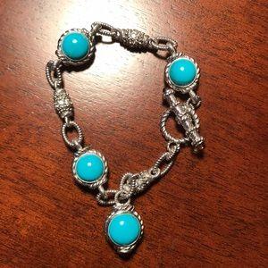 Judith Ripka Sterling/Turquoise Bracelet